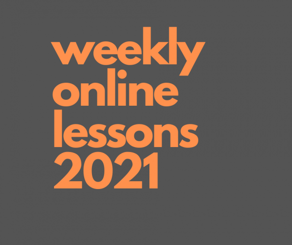 weekly online lessons